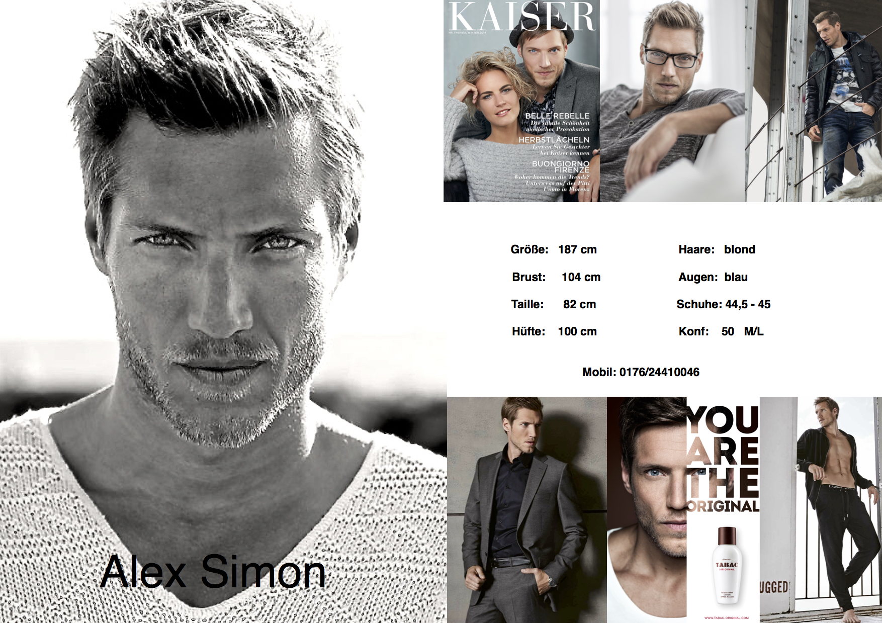 New fashion 2017 - Alex Simon Male Model Amp Actor 187 187 New Polas And Sedcards